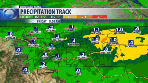 Rainfall totals over next 24 hours