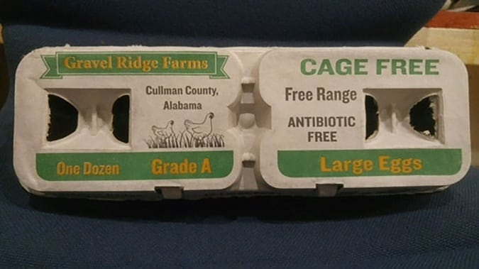 Eggs from Gravel Ridge Farms in Cullman, Alabama, have been linked to 38 cases of salmonella in seven states. (FDA photo)