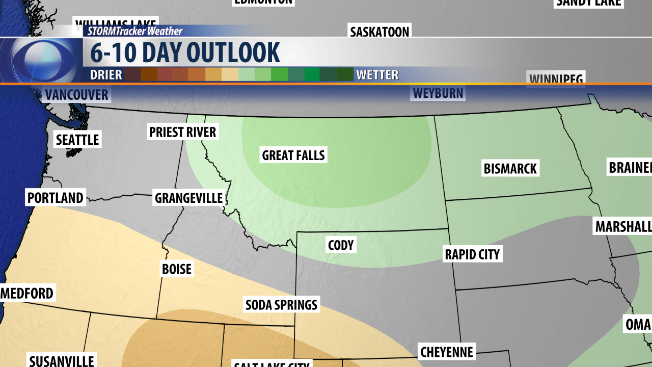 6-10 Day Wetter Outlook