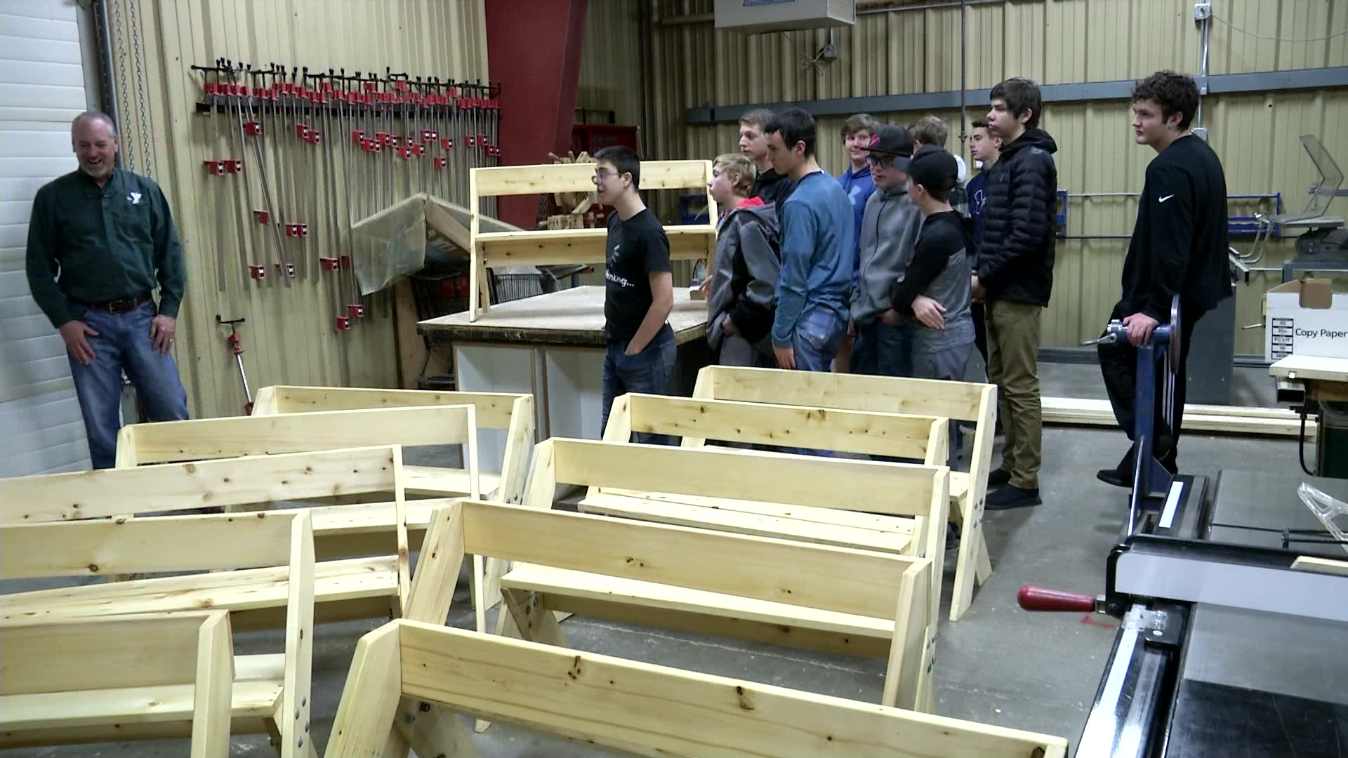 Students built and donated benches to Helena YMCA's Camp Child