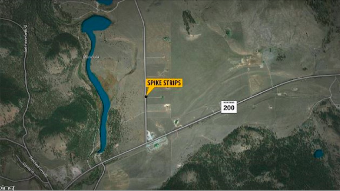 Two arrested after Missoula County high-speed chase map