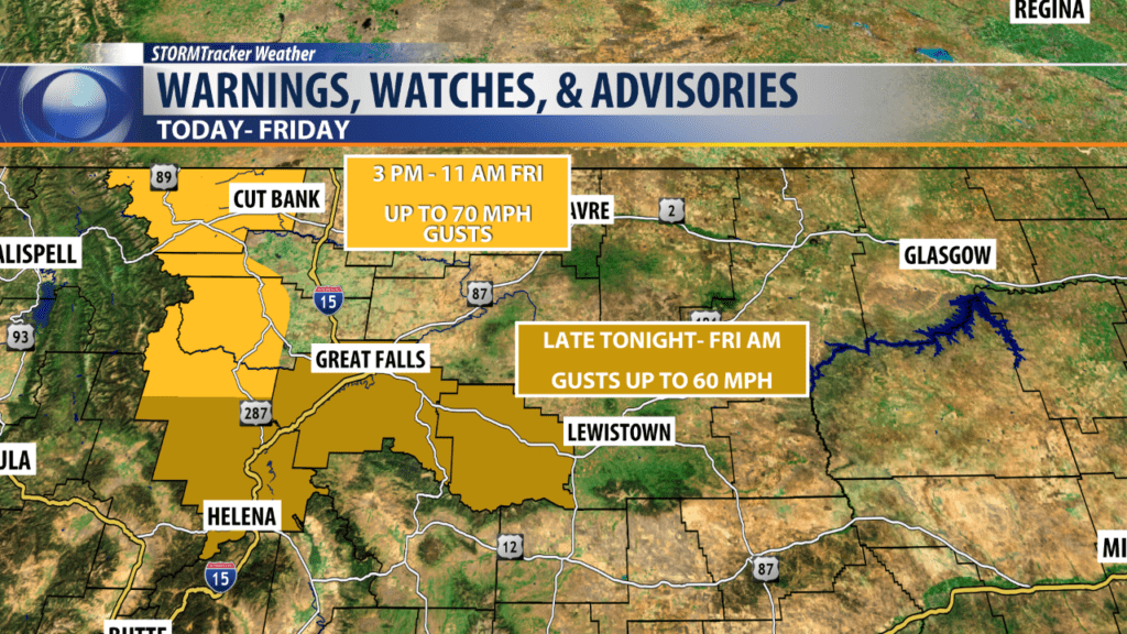 High Wind Warning and Watch