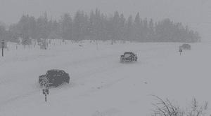 Snow showers impact road conditions around Helena