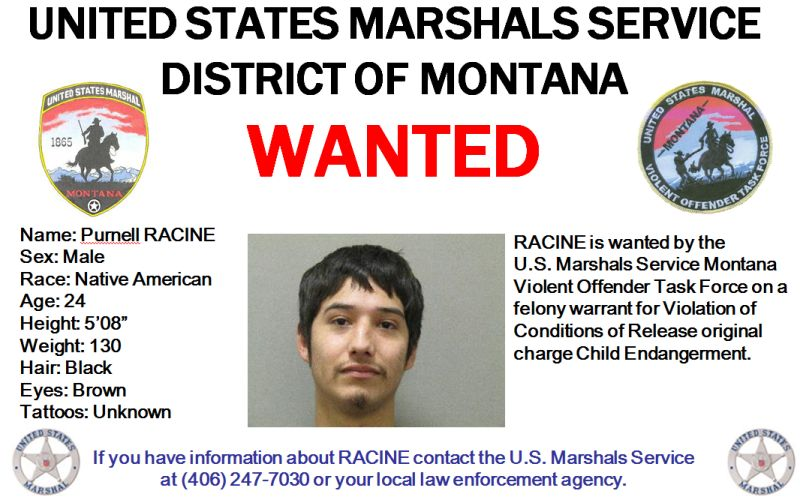 BOLO Alert – Wanted In Montana: Purnell Lee Racine