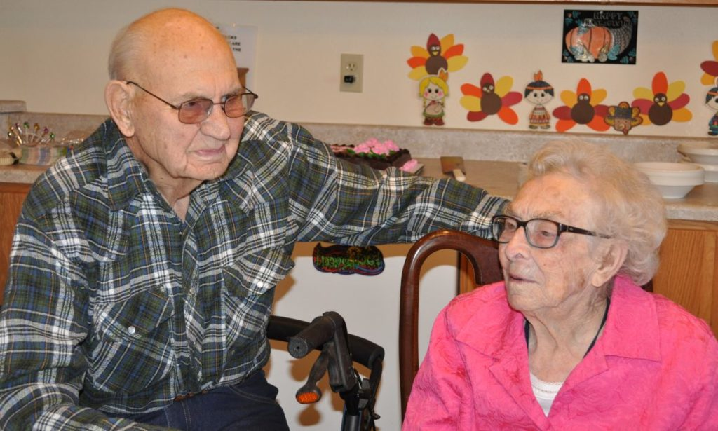 Donald Rudolph, one of Mary's former first-grade students who is now 91 years old, comes to visit her often
